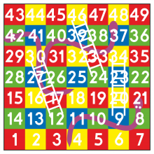#76 Tablica węże i drabiny 1-49