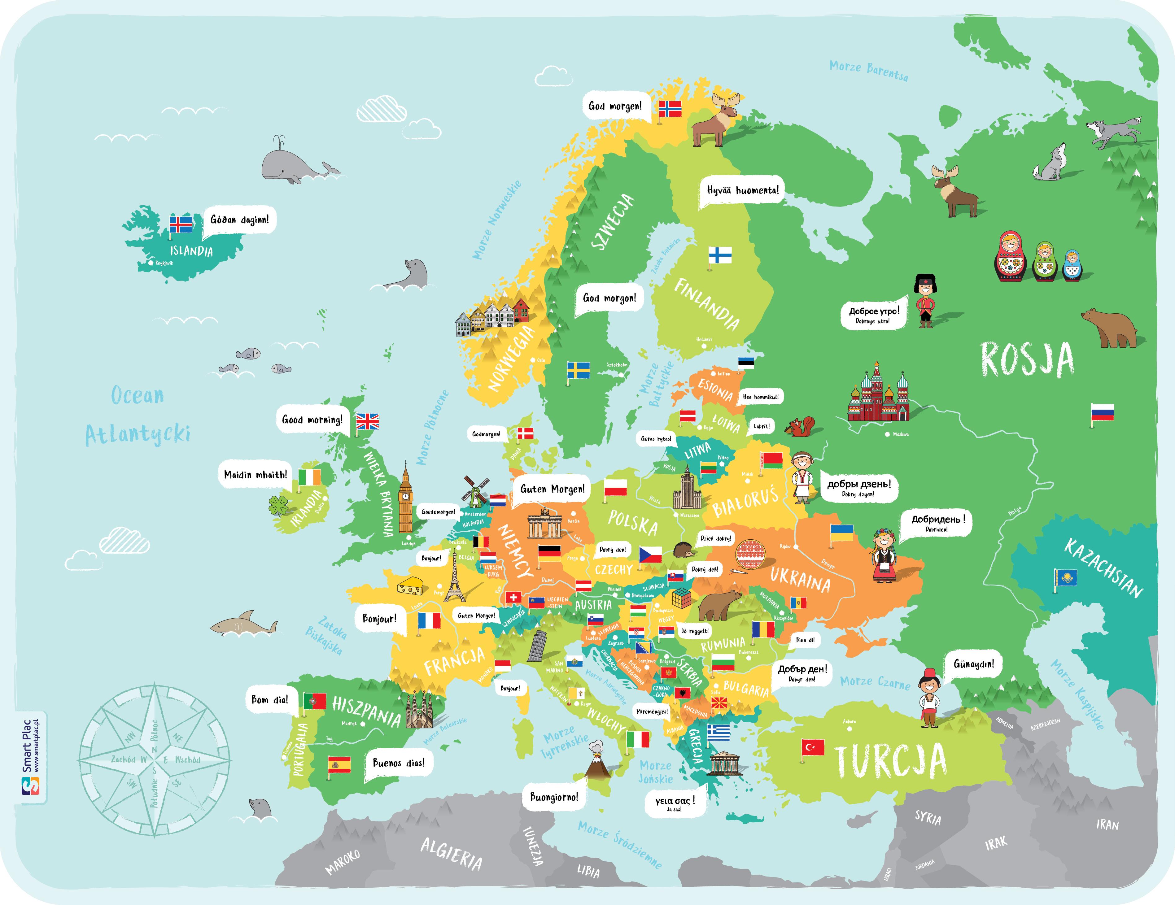 Naklejka Podlogowa Mapa Europy Naklejka Podlogowa Mapa Xxl